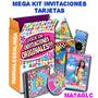 Mega Kit Imprimible Invitaciones Modernas, Imagenes, Fondos