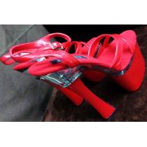 Zapatillas Sexy Rojas 25 Mex Table Dance Stripper Bailarina