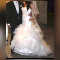 Espectacular Vestido De Novia Corte Sirena Marca Italiana!!