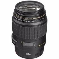 Lente Canon 100mm F/2.8 Macro Usm + Garantia + Filtro Uv