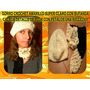 Gorro Amarillo Suave Crochet Mas Bufanda Con Flor Combinada!