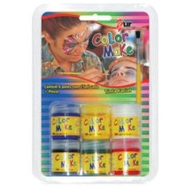Tinta Facial Criança Make Color Kids-6 Cores + Pincel