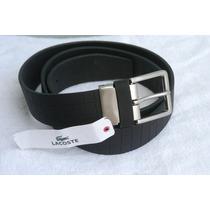 Cinturón Lacoste Caballero 100% Piel Talla 36 Ajustable