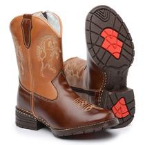 Botina Bota Country Infantil Kids Super Luxo Lançamento 2014
