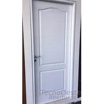 Puerta Placa Oblak Camden Pintada Blanca Marco Aluminio 70
