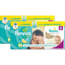 Fralda Pampers Total Confort M C/144 + Premium Care C/ 48