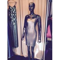 Liquido !!vestido Espalda Con Transparencia Y Mangas