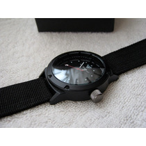 Moderno Reloj Emporio Armani Lona Negro Subasta 1 Peso