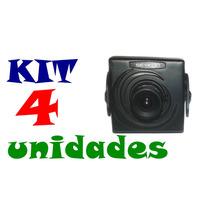 Kit Com 4 Mini Micro Camera Ccd Cftv Coloridas