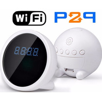 Reloj Despertador Camara Espia Wifi P2p Andorid Iphone Pc