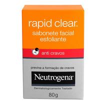 Neutrogena Rapid Clear Sabonete Esfoliante Anti-cravos 80g