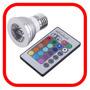 Foco Led Rgb 3w E26 Control Remoto 16 Colores Lampara Winled