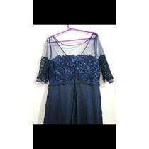 Vestido De Festa Azul Marinho G Plus Size
