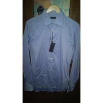 Nueva Camisa Caballero Calvin Klein Collection Talla 16 Slim
