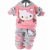 Conjunto Moletom Infantil Hello Kitty Capuz - Pronta Entrega