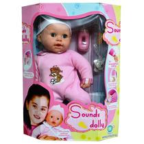 Muñeca Con Sonidos Sounds Dolly. Juguete De Niñas