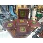 Estuche Portavasos Hindu Madera Y Cuero 4 Puestos De Libros
