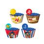Forminha Wrapper Para Cupcake Jake Piratas - C/12 Un