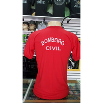 Camiseta Bombeiro Civil Bordada