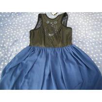 Vestido Negro Azul Rey De Vinil Nuevo Corto Shasa