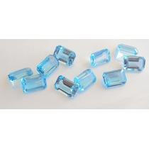 Pedras Preciosas Topazio Azul Retangular.
