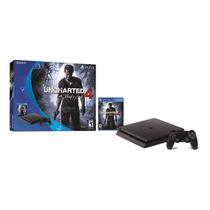 Playstation 4 Slim 500gb Ps4 + Uncharted 4 - Envio Imediato