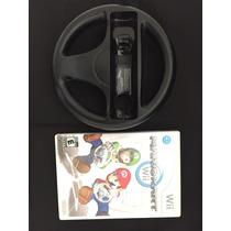 Jogo Mario Kart Wii Americano + Volante Preto !!!