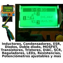 Medidor Esr Capacitores Probador De Transistores Mosfet