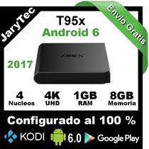 Tv Box T95x Configurado 1gb Ram 4k 8g Rom Android 6 Kodi