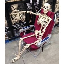 Esqueleto Humano Tamaño Real Decorativo Para Halloween
