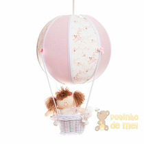 Lustre Grande Balão Balãozinho Cesta Menina Bebê Infantil