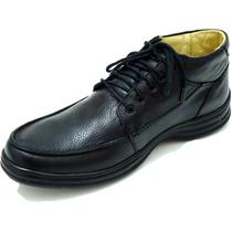 Sapato Bota Masculino Couro Levissimo Antistress Flexivel