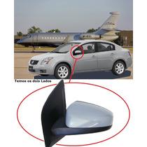 Retrovisor Nissan Sentra 07 08 09 10 11 Eletrico Primer