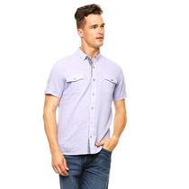 American Level - Camisa Manga Corta Morada - Morado - 64227