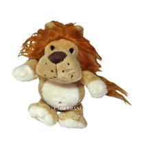 5 Bichinhos Pelúcia Safari Leão Macaco Urso Onça Tigre