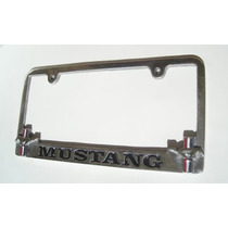 Mustang Portaplacas Metalico Caballo Bandera Porta Placa