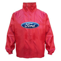 Ford Logo En Campera-rompeviento Impermeable C/capucha