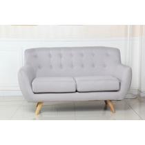 Sillon Sofa De 2 Cuerpos Para Living Comedor De Tela Krogh