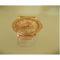 Relógio Pulso Feminino Mryes Dourado Pulseira Aço Dourada