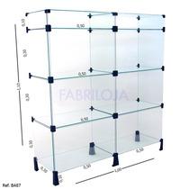 Balcão Em Vidro Modulado Para Loja 1,10x1,00 *fabriloja*