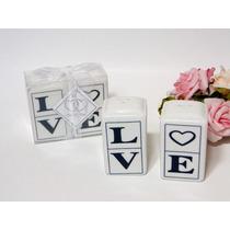 Lembrancinhas De Casamento Love Saleiro E Pimenteiro