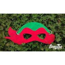 Mascaras Caretas Goma Tortugas Ninja 10 Unidades