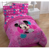 Disney Minnie Mouse Bow-tique Doble Juego De Sábanas