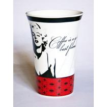 Taza Marilyn Monroe De Porcelana Con Letrero Café Té Tarro