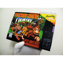 Caixa Donkey Kong Coutry Snes