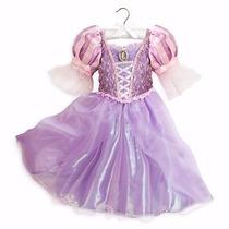 Disney Store Fantasia Vestido Rapunzel Enrolados Original