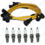 Kit Cables Antiparasitarios + 6 Bujias 4 Elec Chevrolet P.up