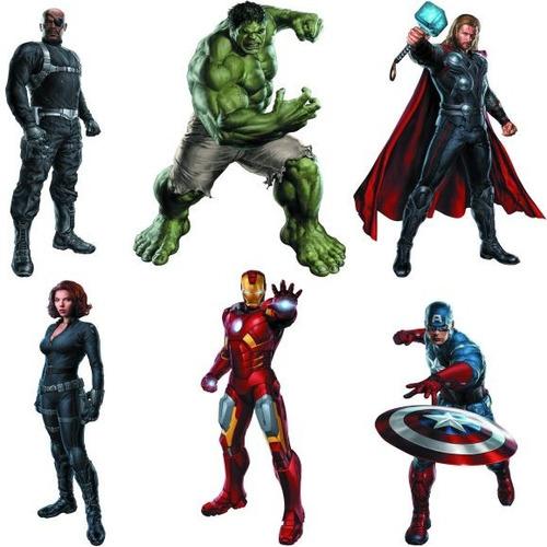 Artesanato Reciclado Com Vidro ~ Adesivos De Parede Vingadores Avengers R$ 59,00 em Mercado Livre