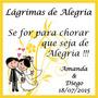 24 Adesivos Lágrimas De Alegria - R$ 3,99