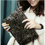 Vanite Clutch Cartera Sobre Mujer Color Plateado